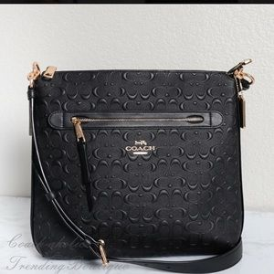 Mae Pebble Leather Crossbody Coach Bag